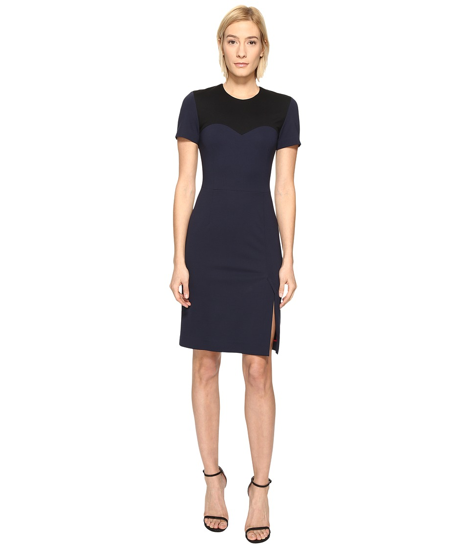 Paul Smith - Color Block Dress (Black/Blue) Women's Dress