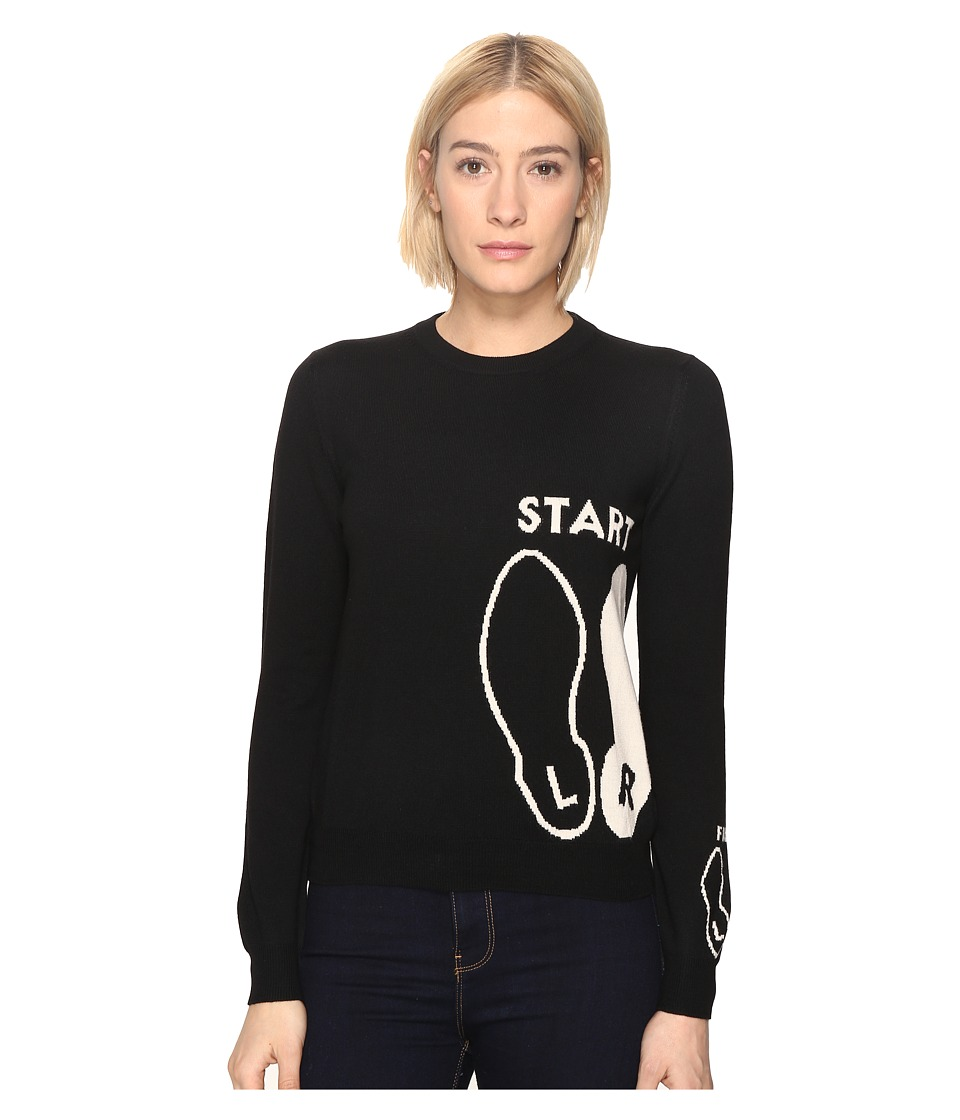 Paul Smith - Dance Instruction Sweater (Black) Women's Sweater