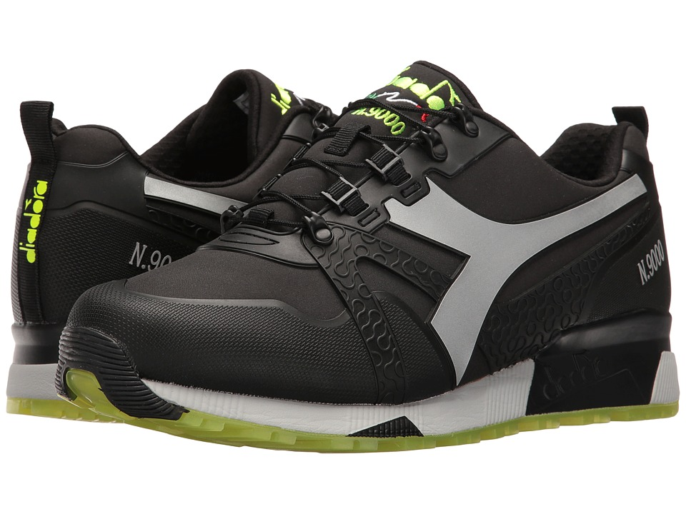 Diadora N9000 WNT Bright (Black/Silver) Athletic Shoes