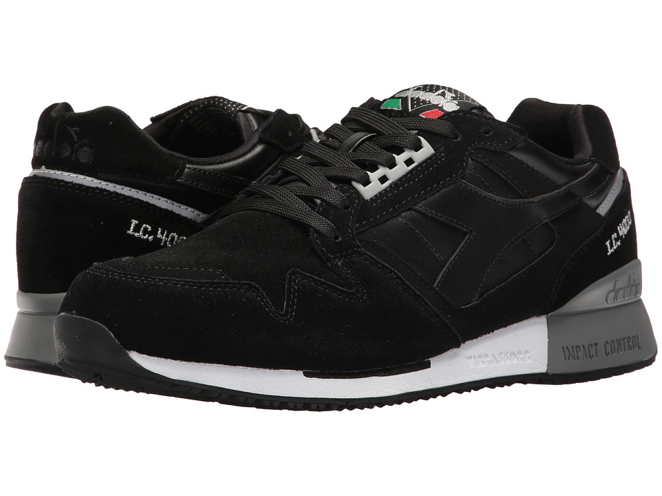 Diadora I.C. 4000 Premium (Black/Silver) Athletic Shoes