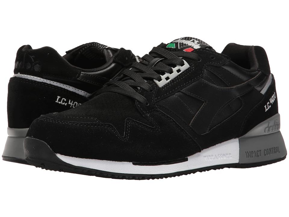 Diadora - I.C. 4000 Premium (Black/Silver) Athletic Shoes