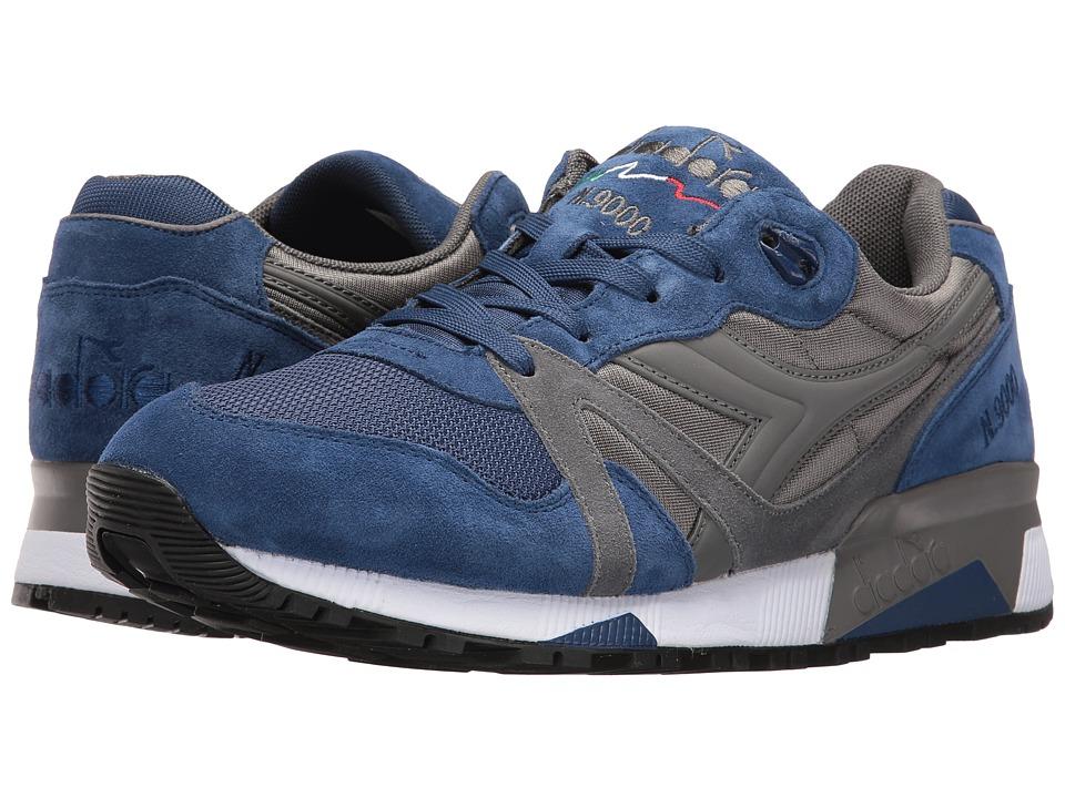 Diadora N9000 NYL II (Steel Gray/Estate Blue) Athletic Shoes