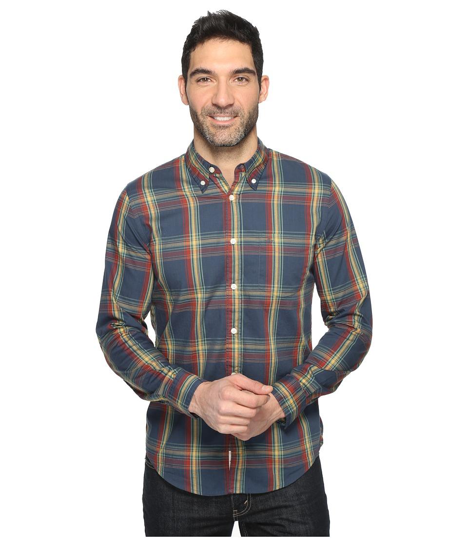 Dockers Premium - Long Sleeve Weathered Oxford (Godfrey Smokey Aqua) Men's Clothing