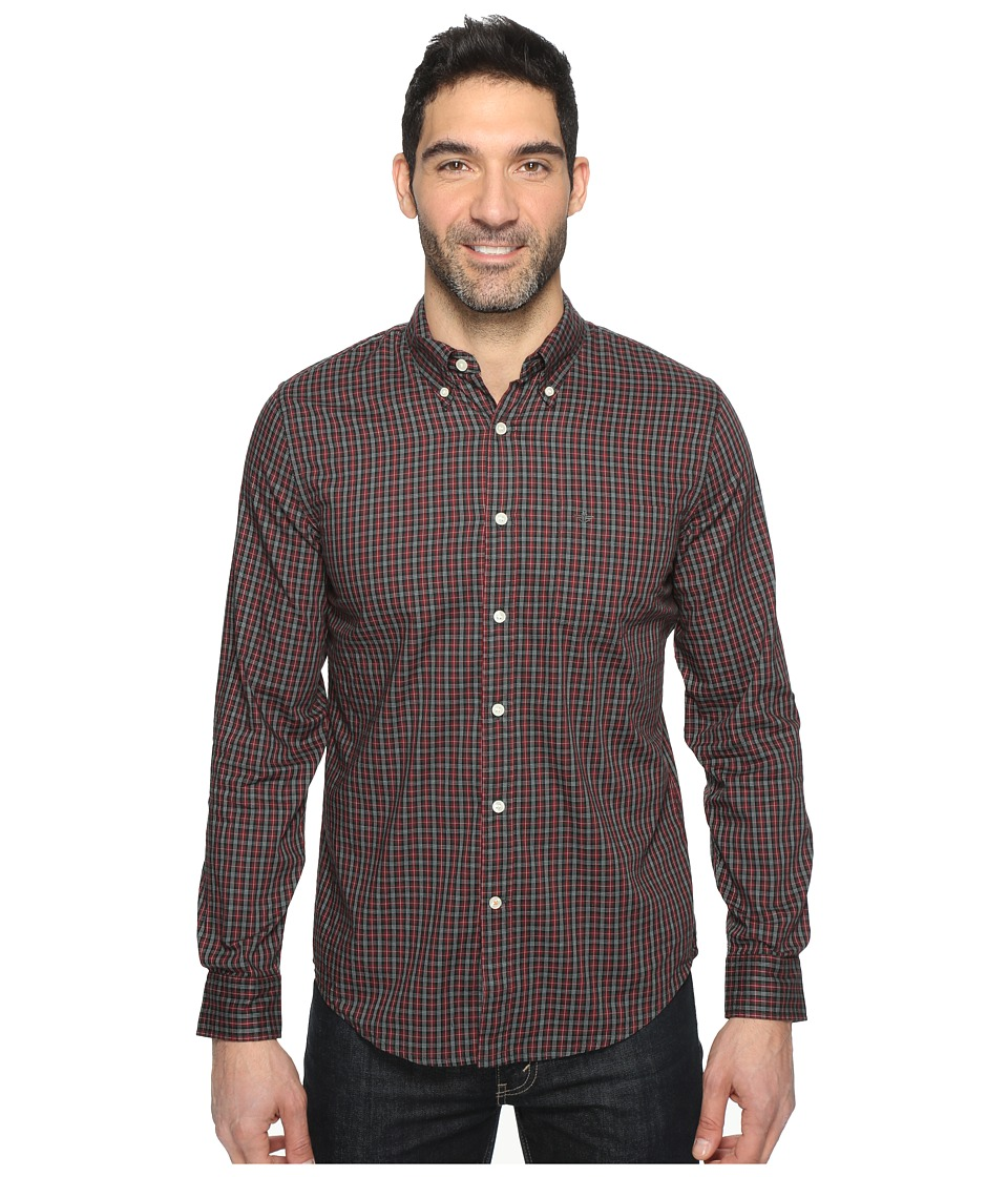 Dockers Premium - Long Sleeve Weathered Oxford (Warm Cabernet) Men's Clothing