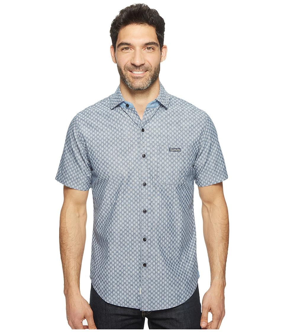 U.S. POLO ASSN. - Striped, Plaid or Print Single Pocket Slim Fit Sport Shirt (Infinity Blue) Men's T Shirt