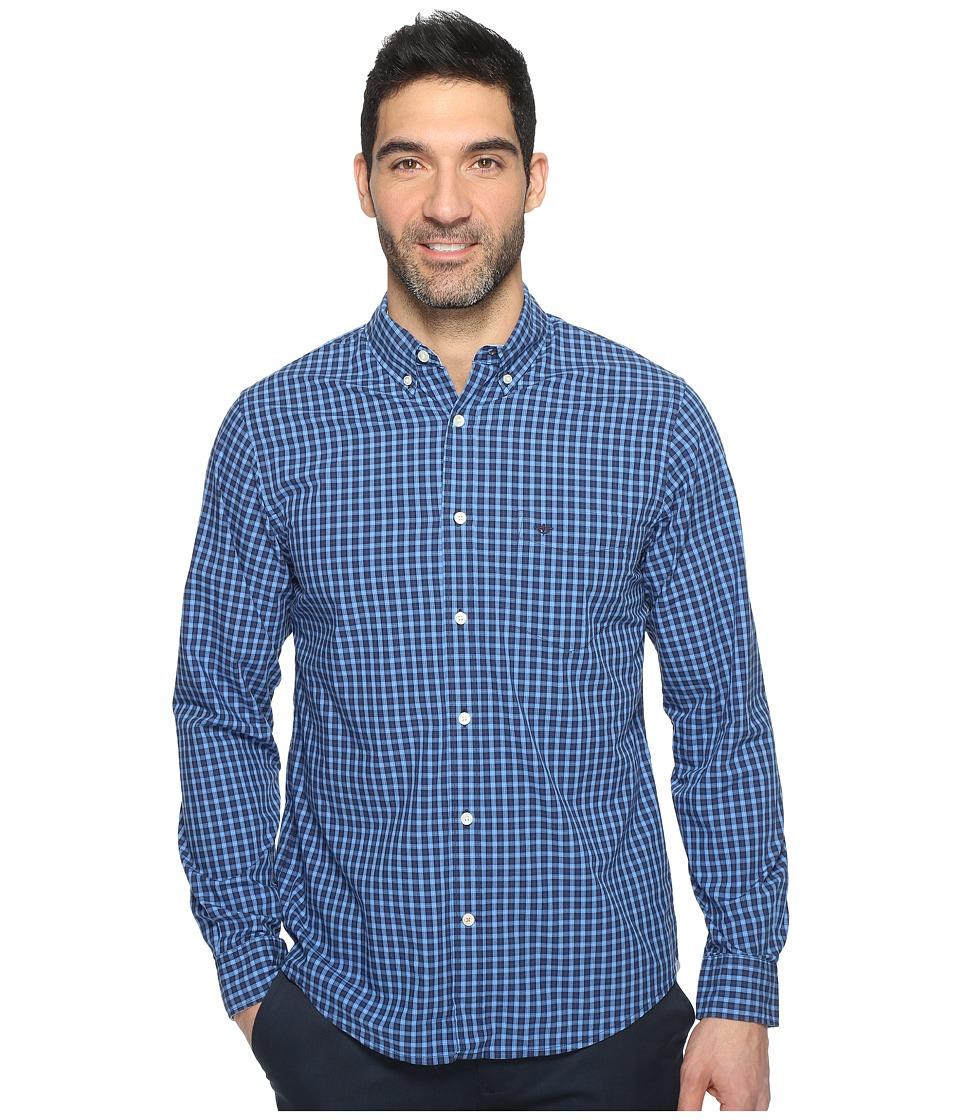 Dockers Premium - Essential Poplin Long Sleeve Standard Fit (Ceramic Blue) Men's Clothing