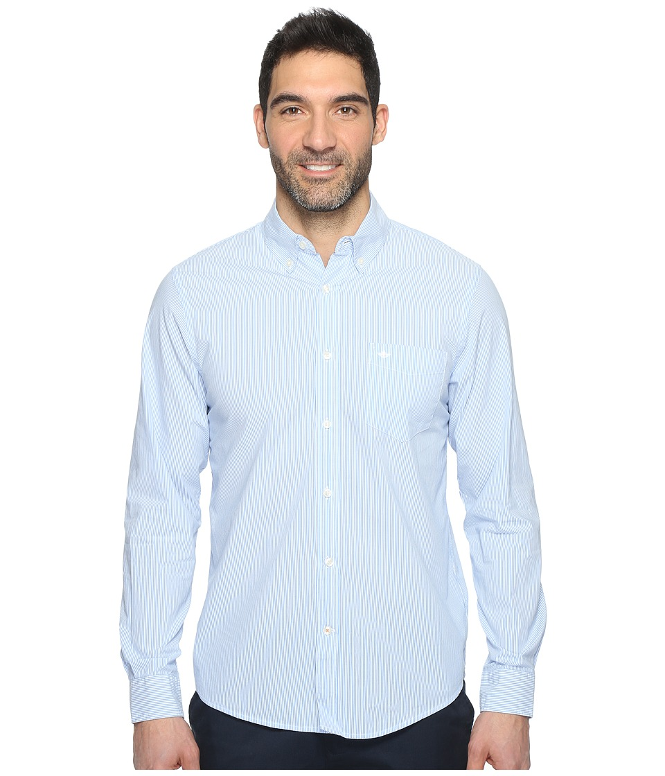 Dockers Premium - Essential Poplin Long Sleeve Standard Fit (Estate Blue) Men's Clothing