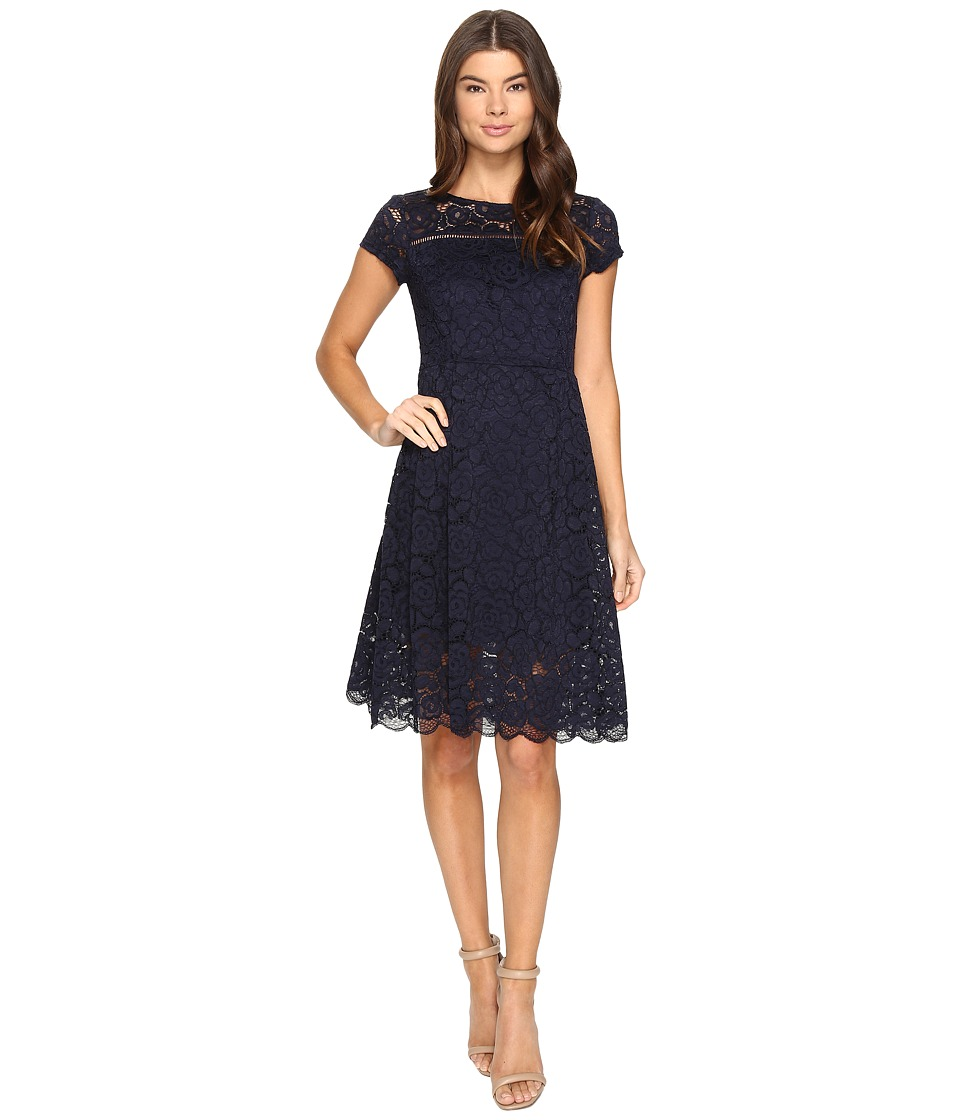 Ellen Tracy - Lace Dress (Navy) Women's Dress