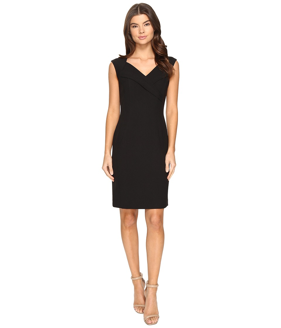 Ellen Tracy - Crepe Dress (Black) Women's Dress