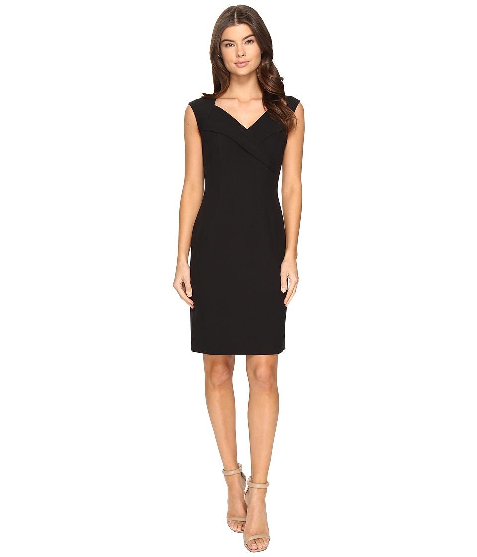 Ellen Tracy - Crepe Dress (Black) Women's Dress