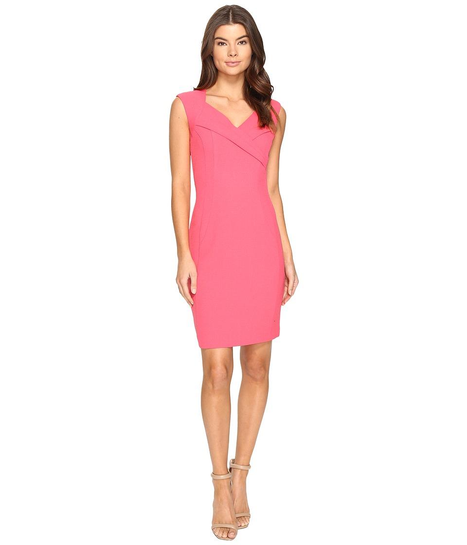 Ellen Tracy Crepe Dress (Rose) Women