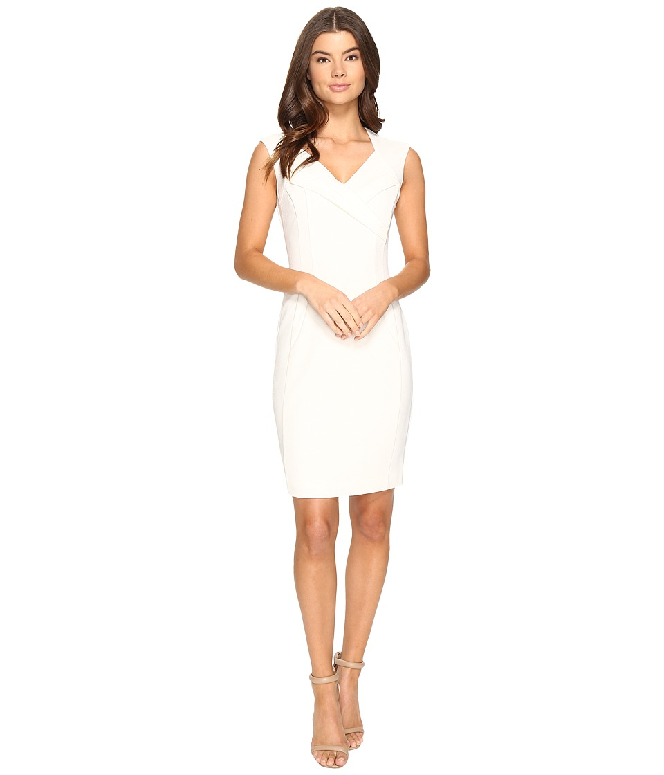 Ellen Tracy - Crepe Dress (Ivory) Women's Dress