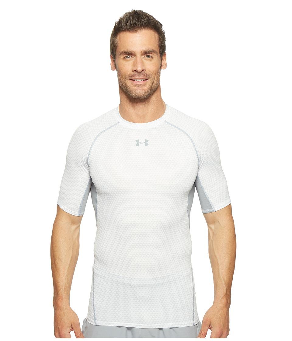 Under Armour - Armour(r) Heatgear(r) Printed S/S Tee (White) Men's T Shirt
