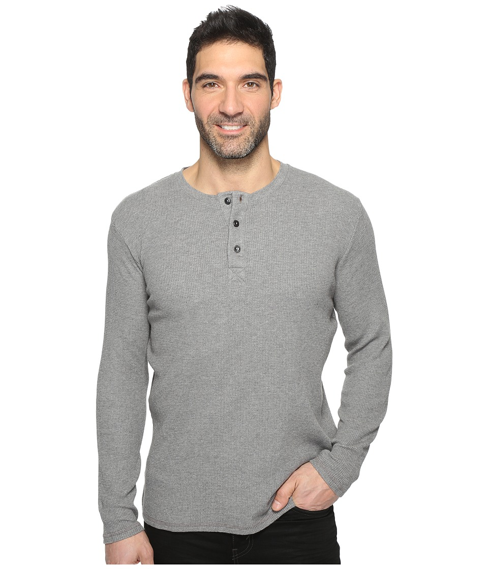 Dockers Premium - Textured Henley (Medium Grey Spacedye Heather) Men's Clothing