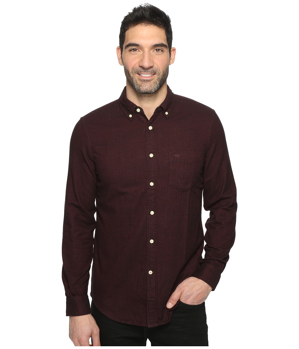 Dockers Premium - Portuguese Flannel Shirt (Pinot Red Heather Pattern) Men's Clothing