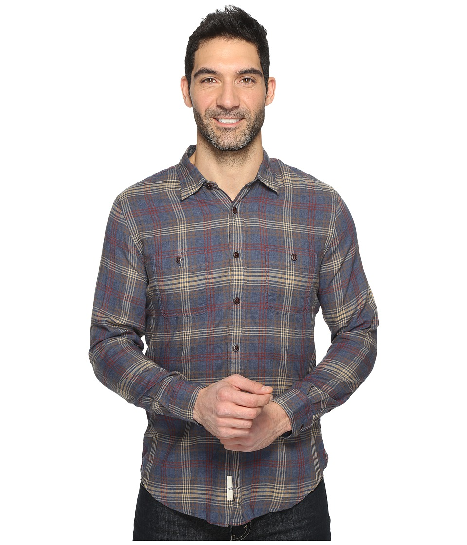 Dockers Premium - Stretch Coastal Twill (Blue Heather Plaid) Men's Clothing