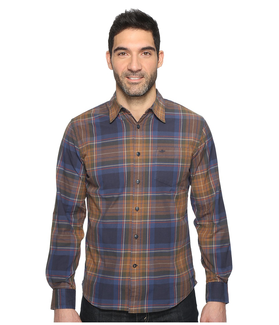 Dockers Premium - Broken-In Shirt (Smokey Aqua Plaid) Men's Clothing