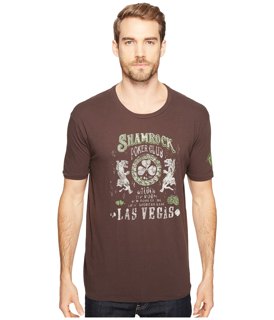 Lucky Brand - Shamrock Poker Graphic Tee (Black Mountain) Men's Clothing