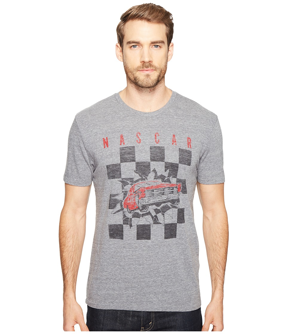Lucky Brand - Checker Burst Graphic Tee (Grey) Men's Clothing