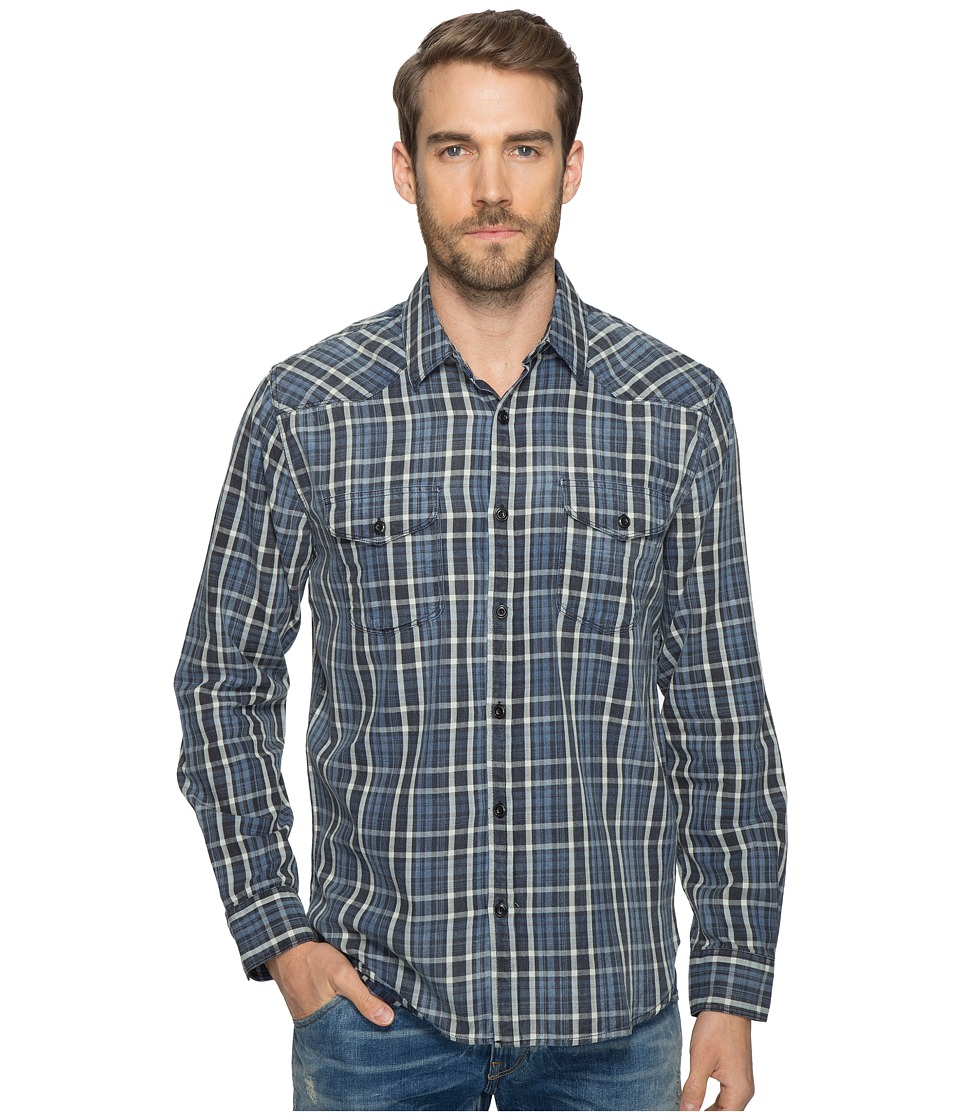 Lucky Brand Santa Fe Western Shirt (Dark Indigo) Men