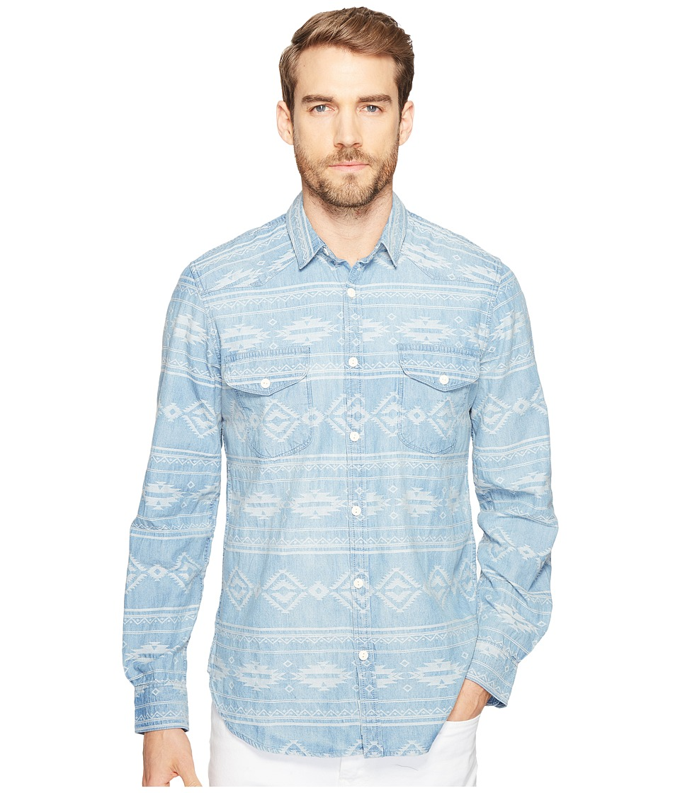 Lucky Brand - Santa Fe Western Shirt (Indigo Jacquard) Men's Clothing