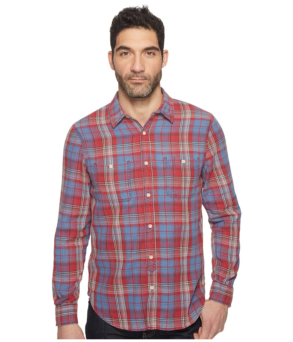Lucky Brand - Mason Workwear Shirt (Red/Blue) Men's Clothing