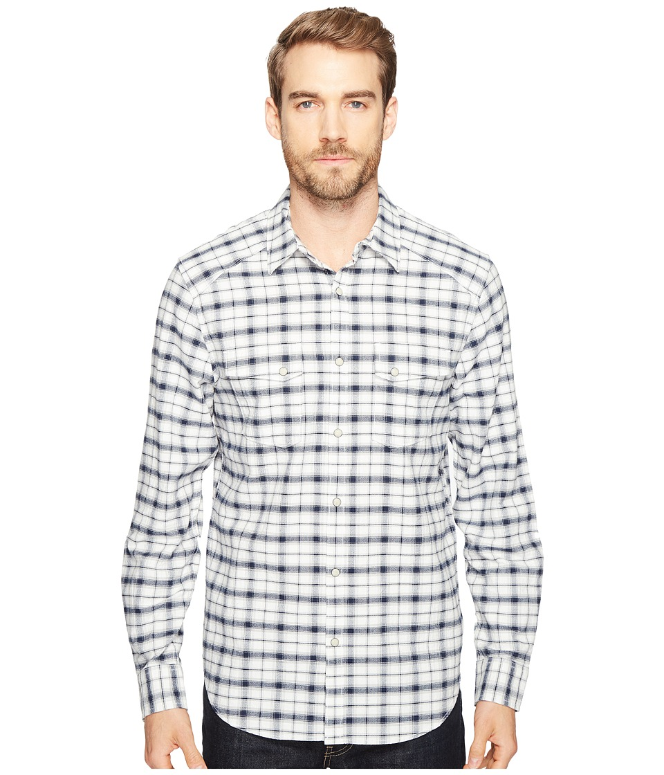 Lucky Brand - Martin Western Shirt (Natural/Blue Plaid) Men's Clothing