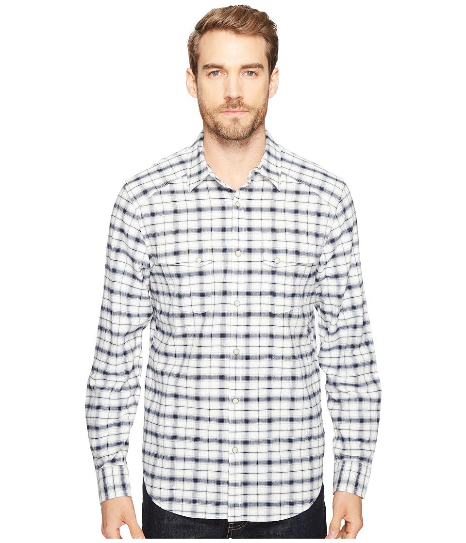 Lucky Brand Martin Western Shirt (Natural/Blue Plaid) Men