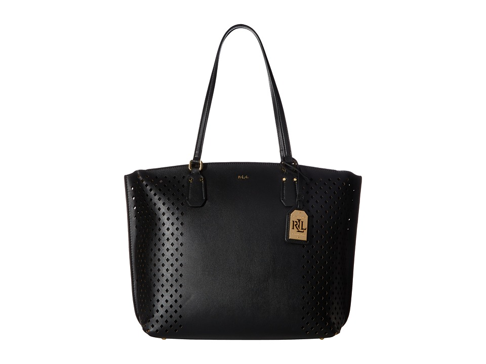 LAUREN Ralph Lauren - Lauderdale Tanner Tote (Black) Tote Handbags