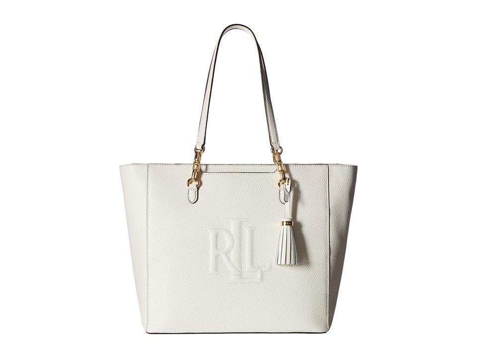 LAUREN Ralph Lauren - Anstey Halee Tote (Eggshell) Tote Handbags