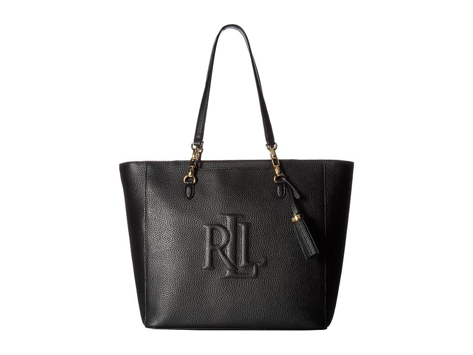 LAUREN Ralph Lauren - Anstey Halee Tote (Black) Tote Handbags