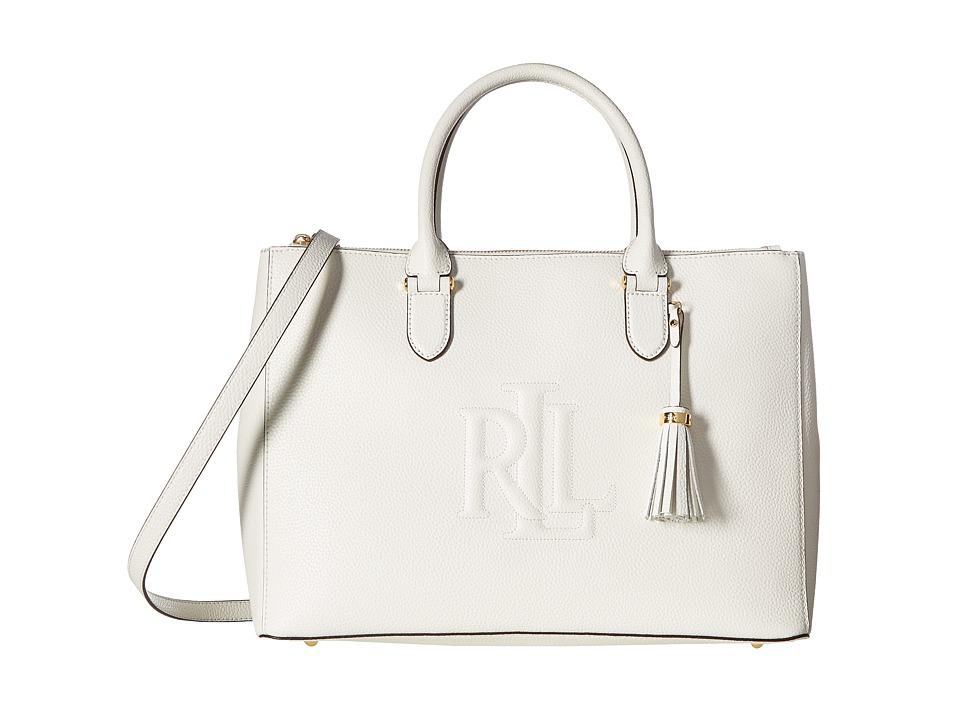 LAUREN Ralph Lauren - Anstry Double Zip Satchel (Eggshell) Satchel Handbags