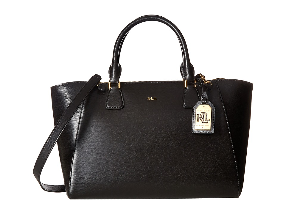 LAUREN Ralph Lauren - Newbury Stefanie Satchel (Black) Satchel Handbags