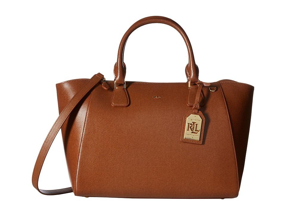 LAUREN Ralph Lauren - Newbury Stefanie Satchel (Lauren Tan) Satchel Handbags