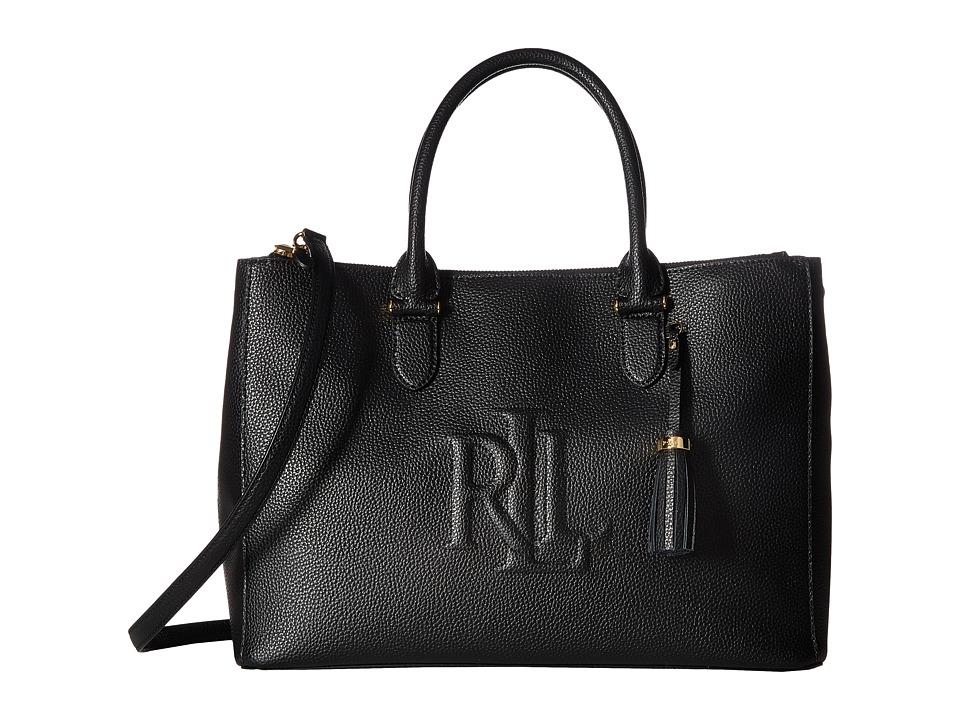 LAUREN Ralph Lauren - Anstry Double Zip Satchel (Black) Satchel Handbags