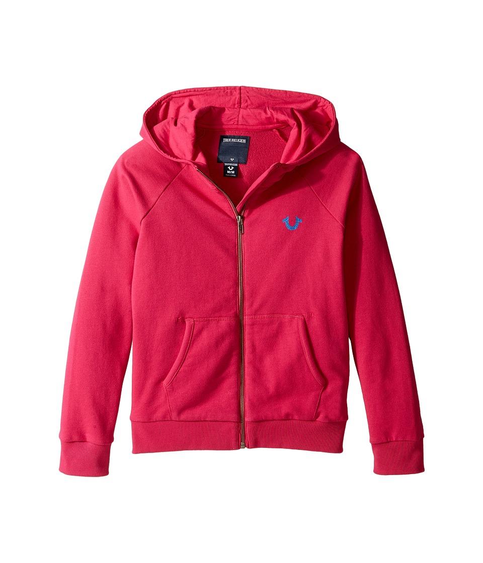 True Religion Kids - Branded Hoodie (Big Kids) (Fuchsia) Girl's Sweatshirt