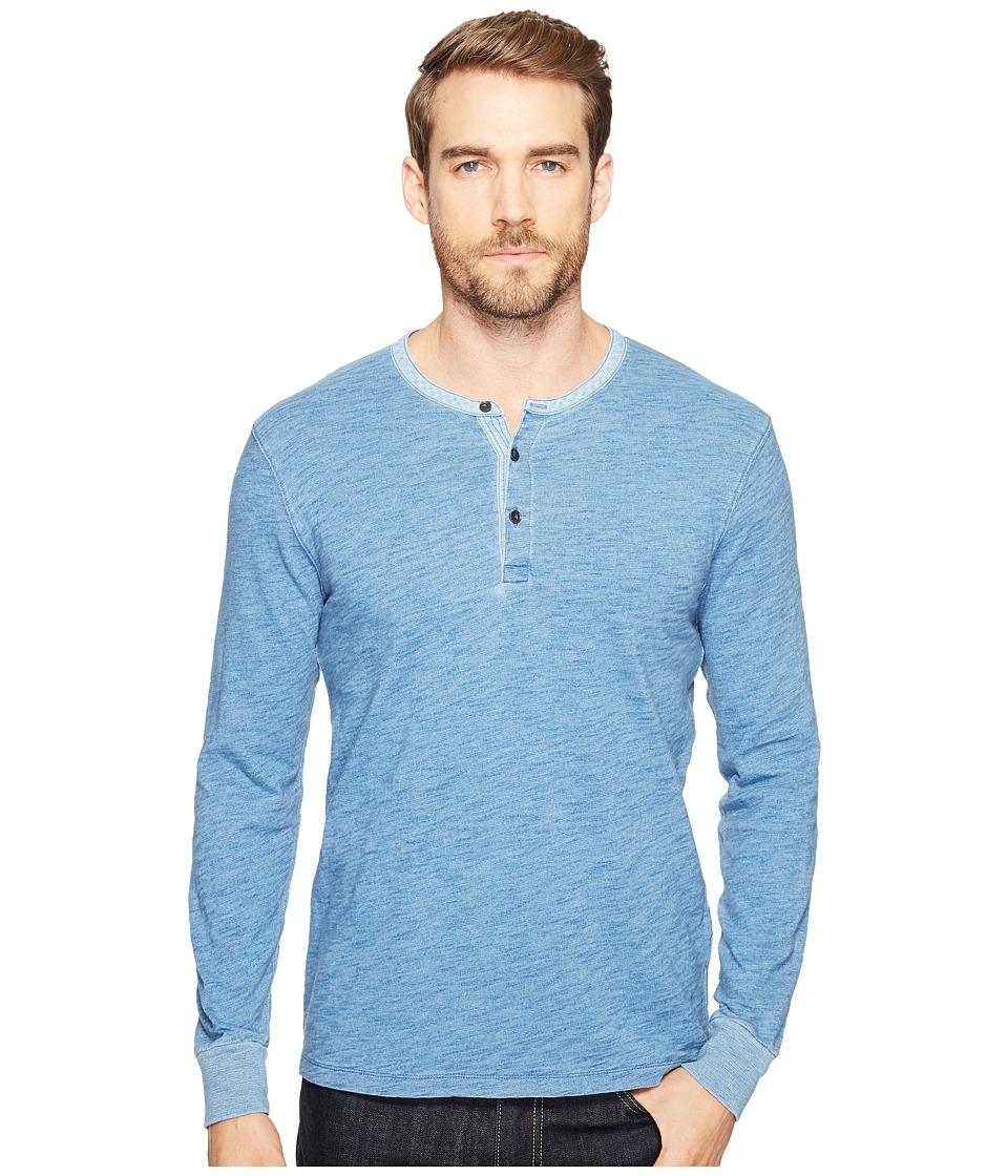 Lucky Brand Knit Henley (Indigo) Men