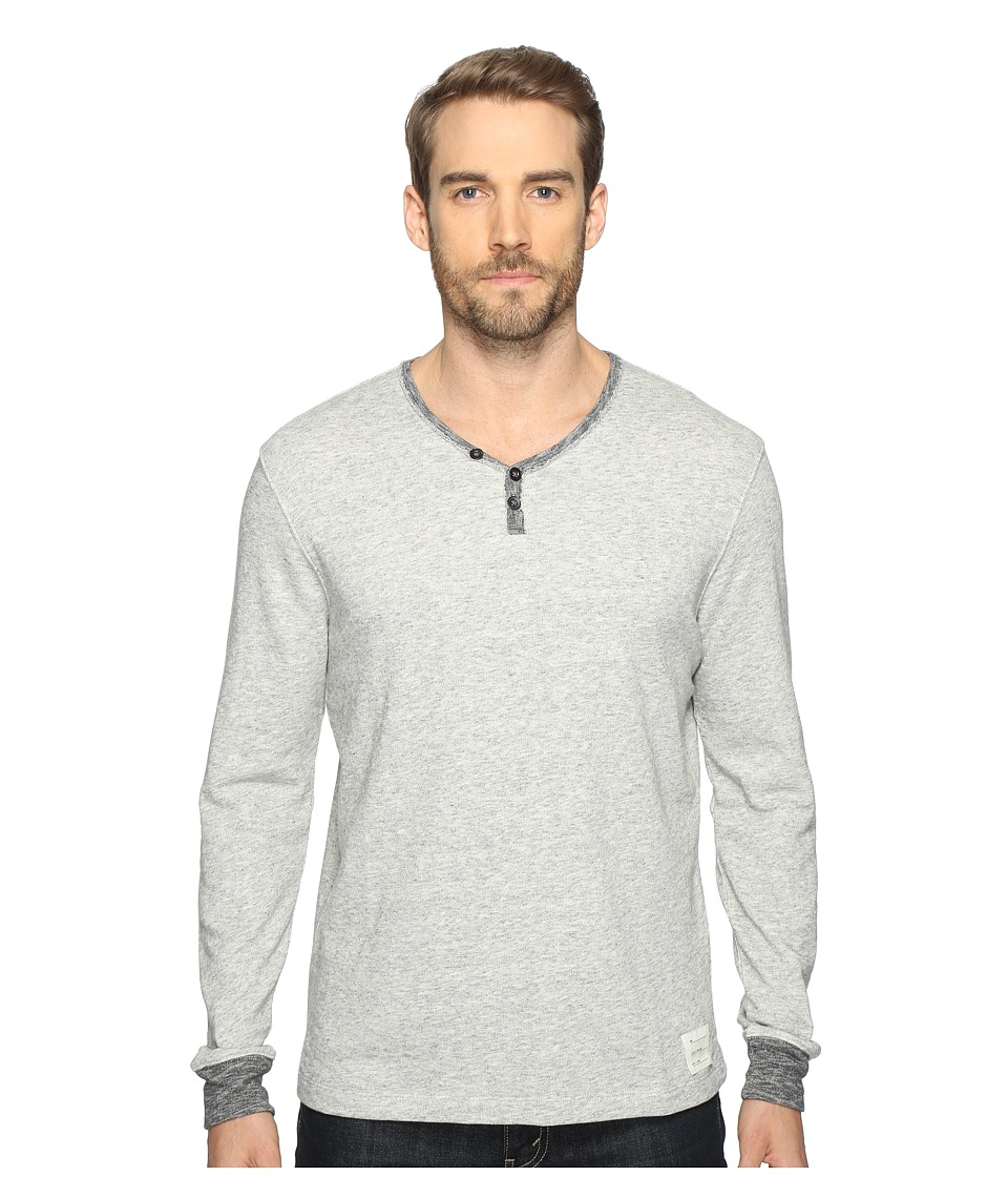 Lucky Brand - Y Neck Terry Tee (Grey Heather) Men's Clothing