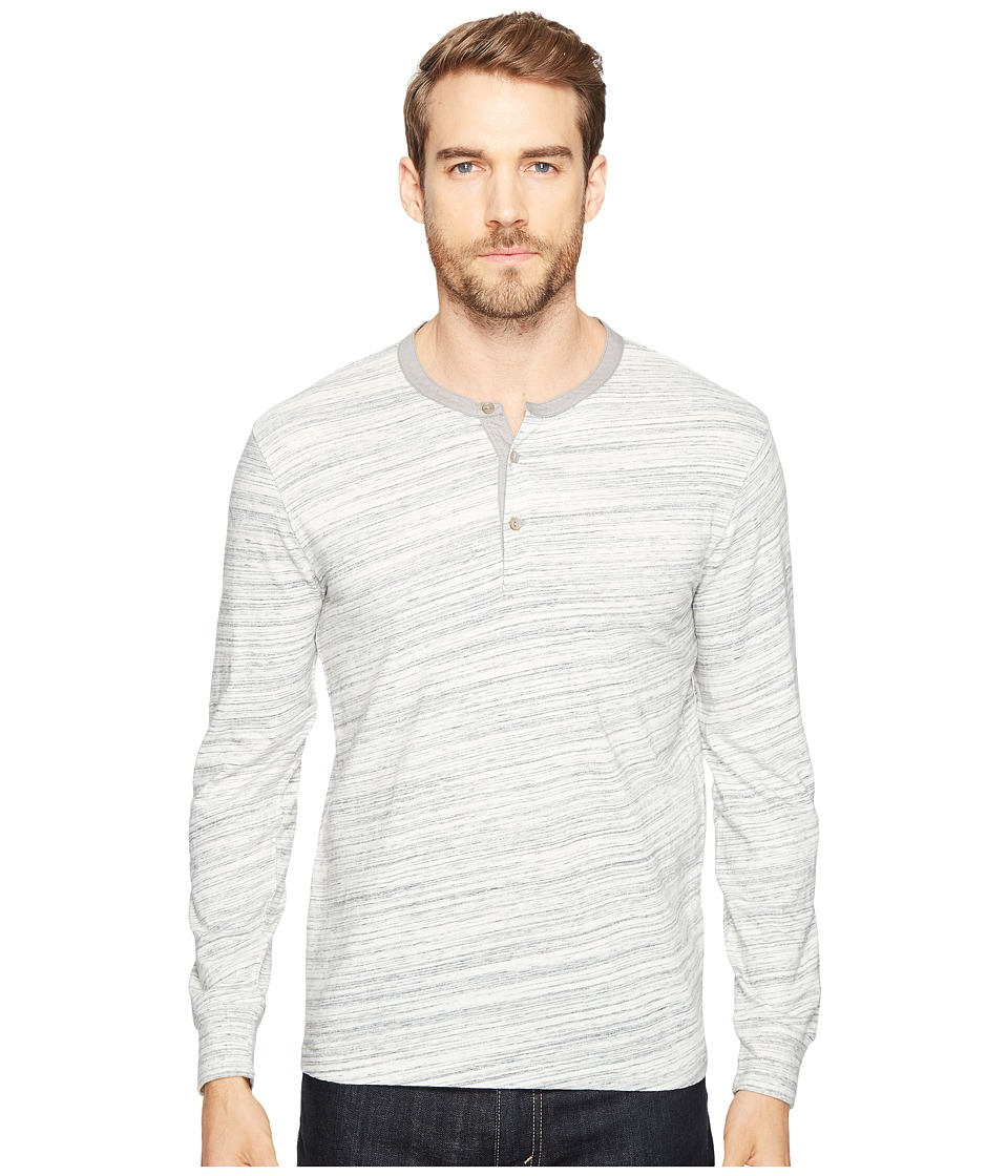 Lucky Brand - Knit Henley (Heather Grey) Men's Clothing