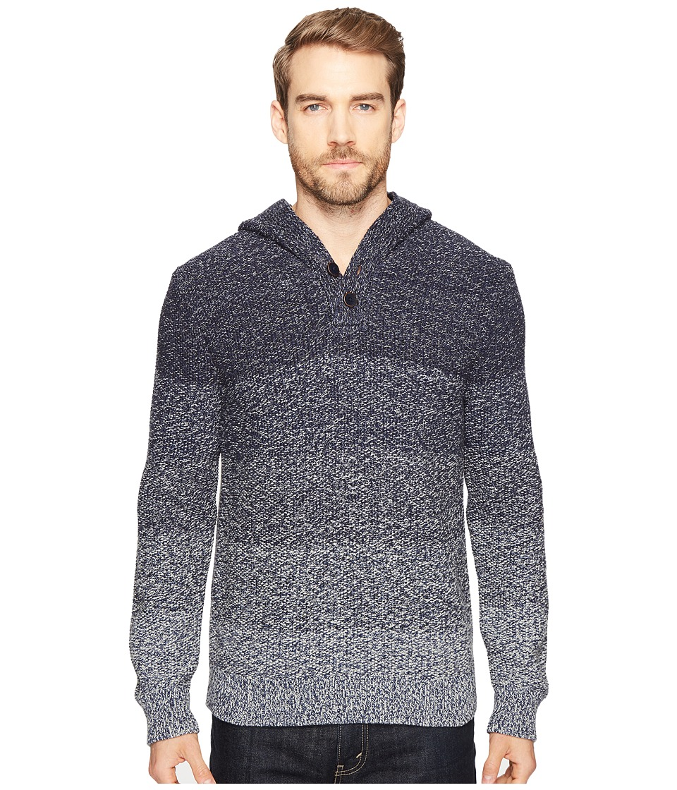 Lucky Brand - Relaxed Ombre Hoodie (Blue Ombre) Men's Sweatshirt