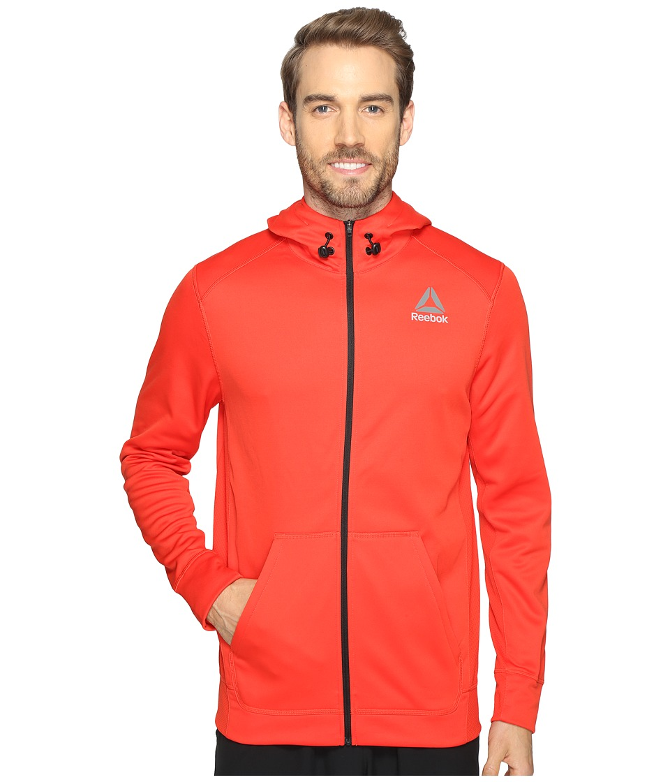 Reebok - Workout Ready Warm Poly Fleece Full Zip (Red) Men's Sweatshirt