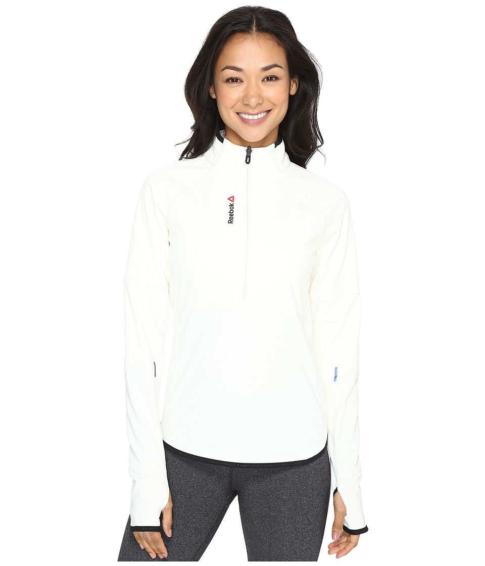 Reebok - One Series Winter Pack 1/4 Zip Top (Chalk) Women's Clothing