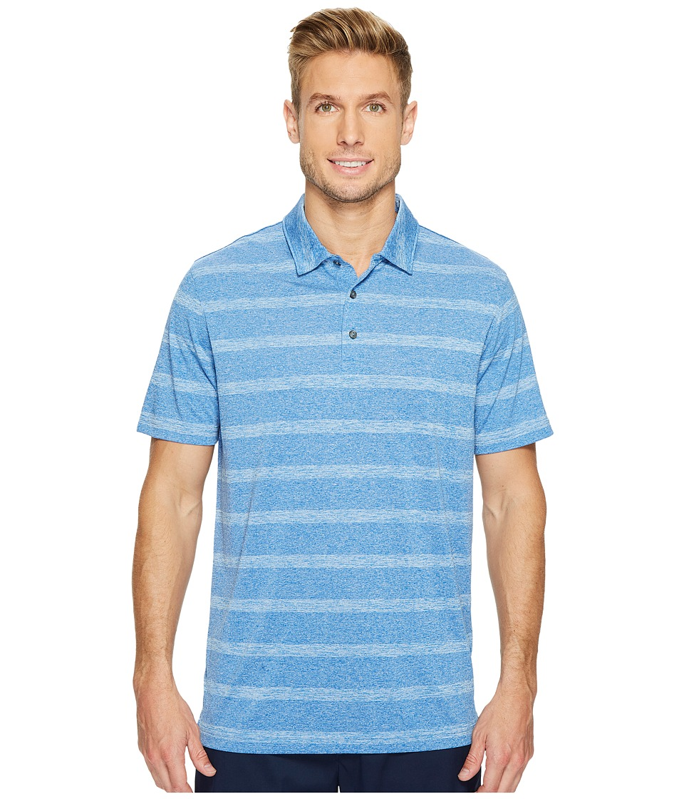 PUMA Golf - Pounce Stripe Polo Cresting (Lapis Blue) Men's Short Sleeve Knit