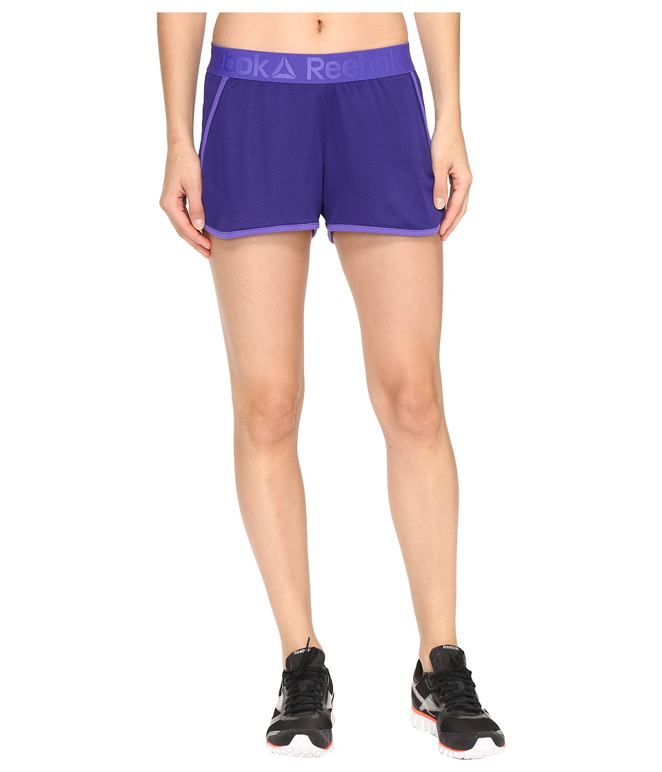 Reebok - Workout Ready Mesh Shorts (Purple) Women's Shorts