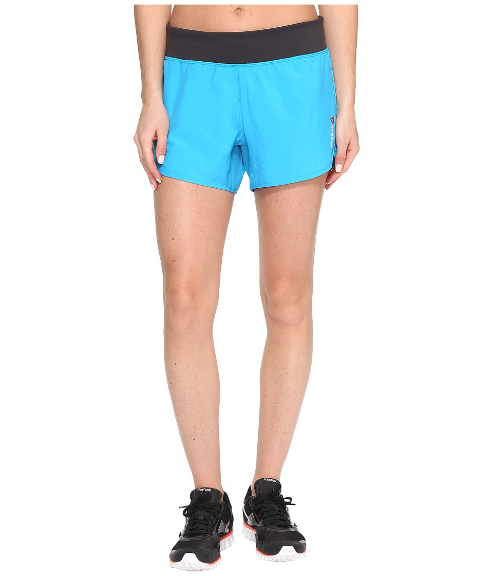 Reebok - One Series Woven 4 Shorts (Blue) Women's Shorts