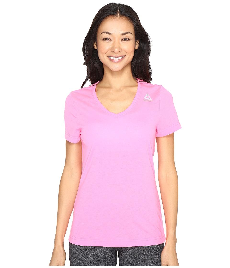 Reebok - Workout Ready Supremium Tee (Pink) Women's T Shirt