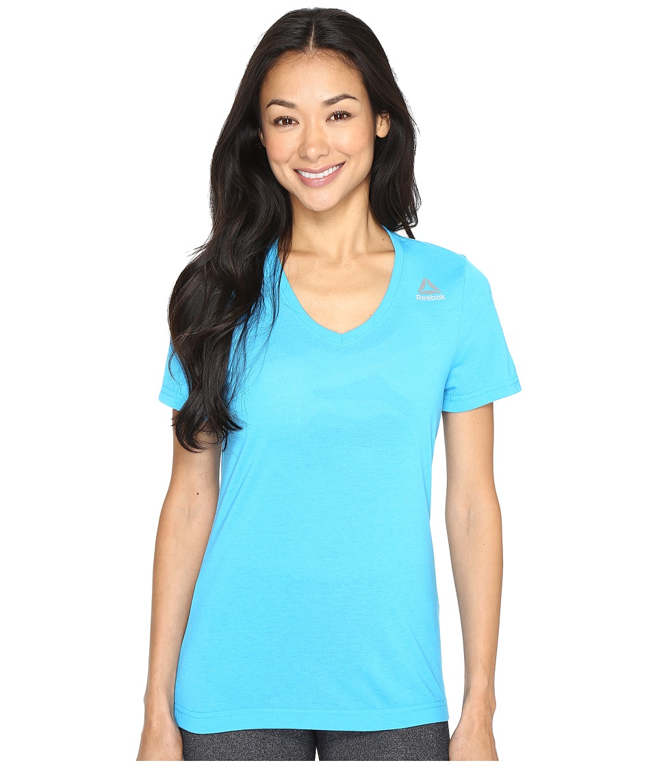 Reebok - Workout Ready Supremium Tee (Blue) Women's T Shirt