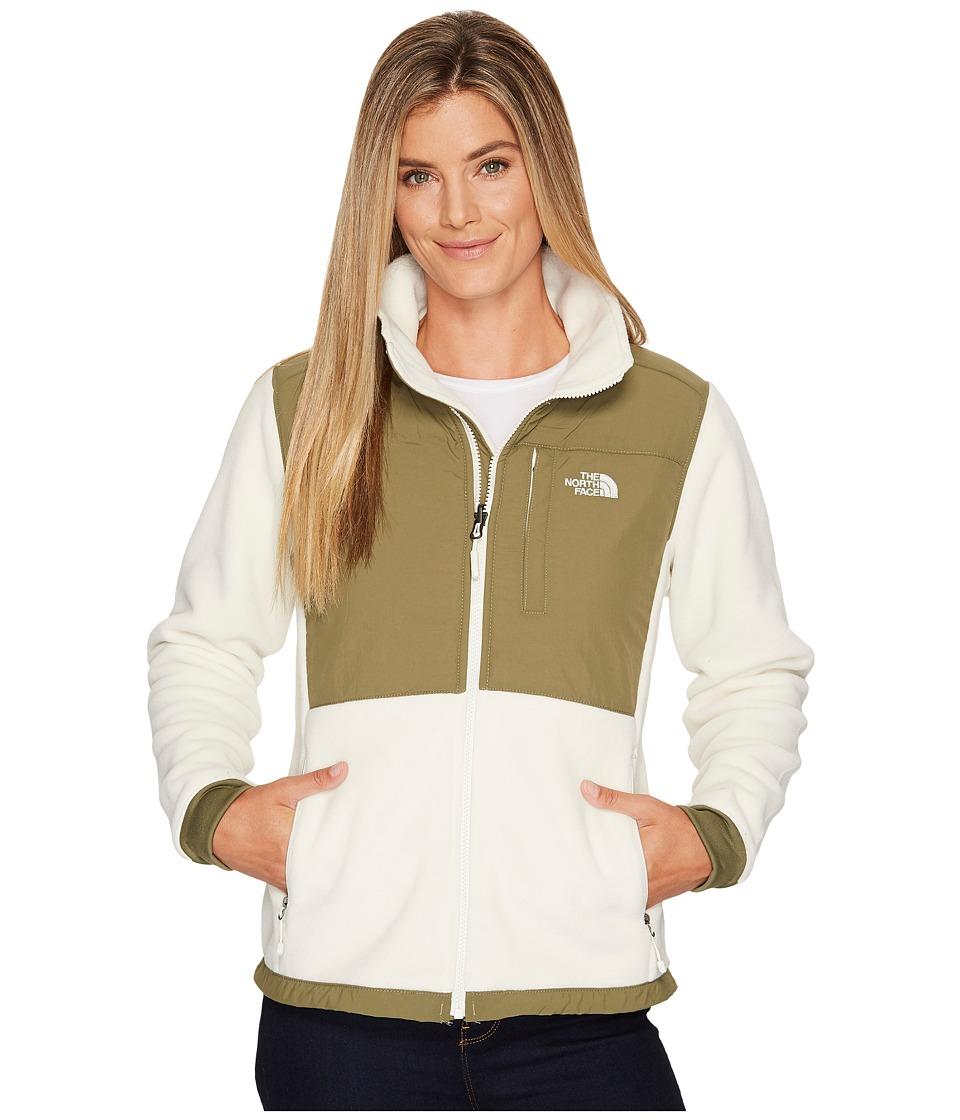 The North Face Denali 2 Jacket (Vintage White/Burnt Olive Green) Women