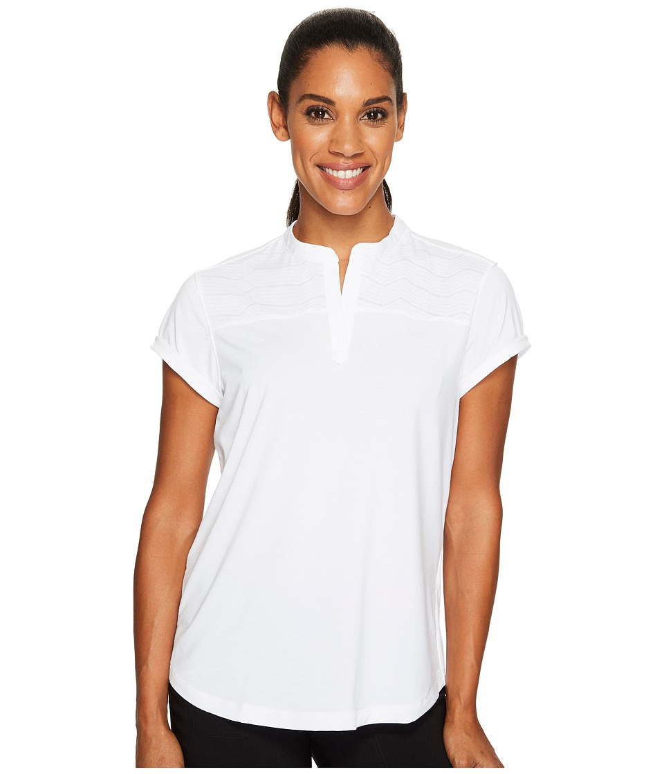 Under Armour Golf - Mandarin Jacquard Polo Shirt (White/White/White) Women's Short Sleeve Knit