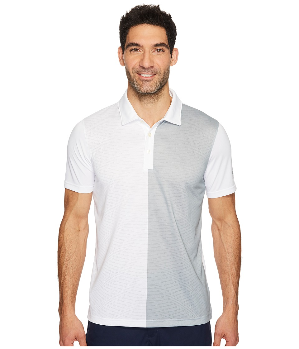 PUMA Golf - Bisected Polo (Bright White) Men's Short Sleeve Knit
